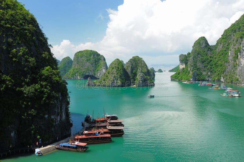海湾halong越南 库存照片
