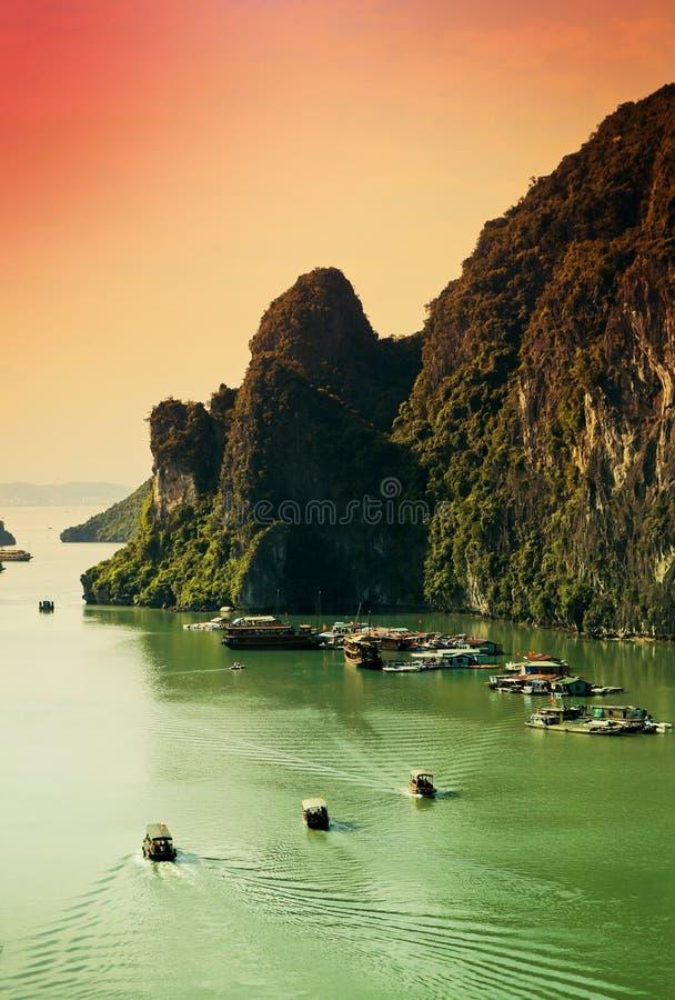 海湾halong越南 免版税库存照片