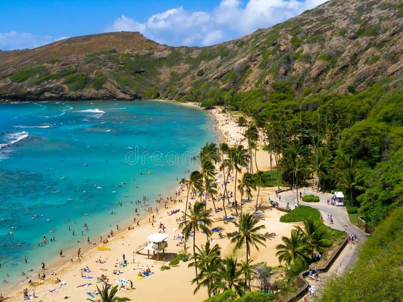 海湾hanauma夏威夷 库存照片