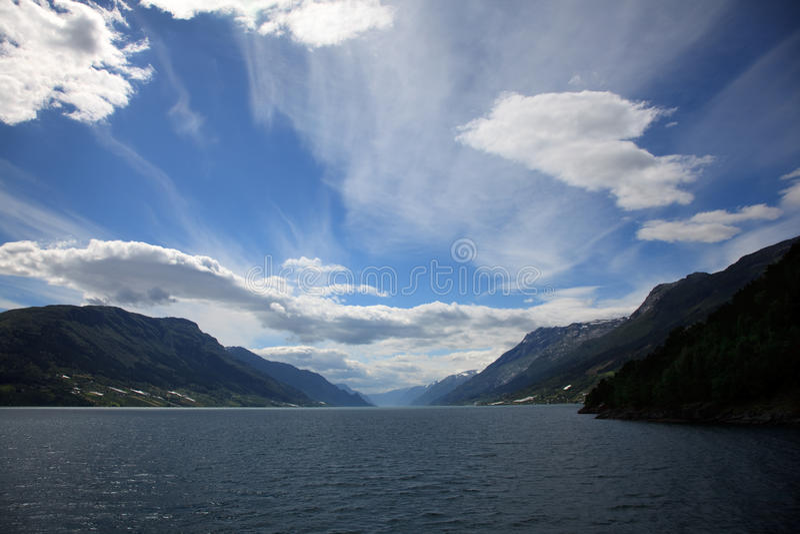 海湾hardanger挪威 免版税库存图片
