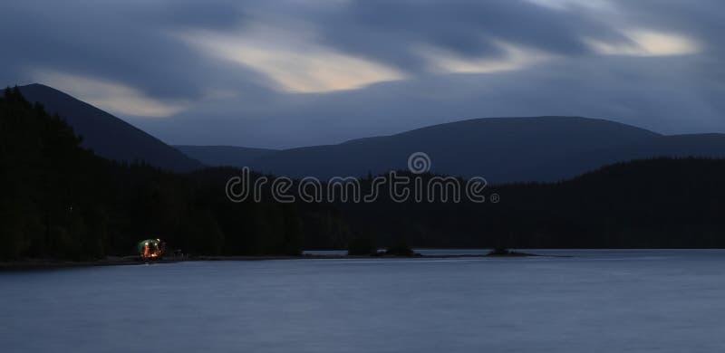 海湾morlich,苏格兰,风景,山 免版税库存图片