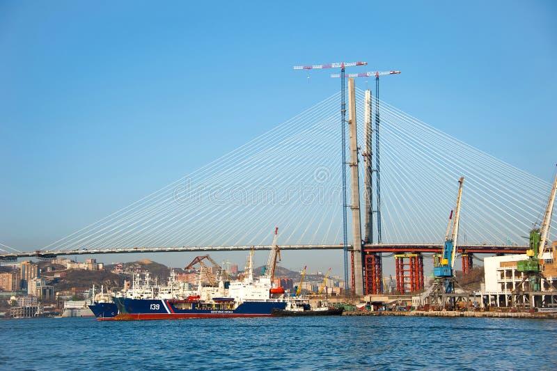 海湾zolotoy桥梁的rog 免版税库存图片