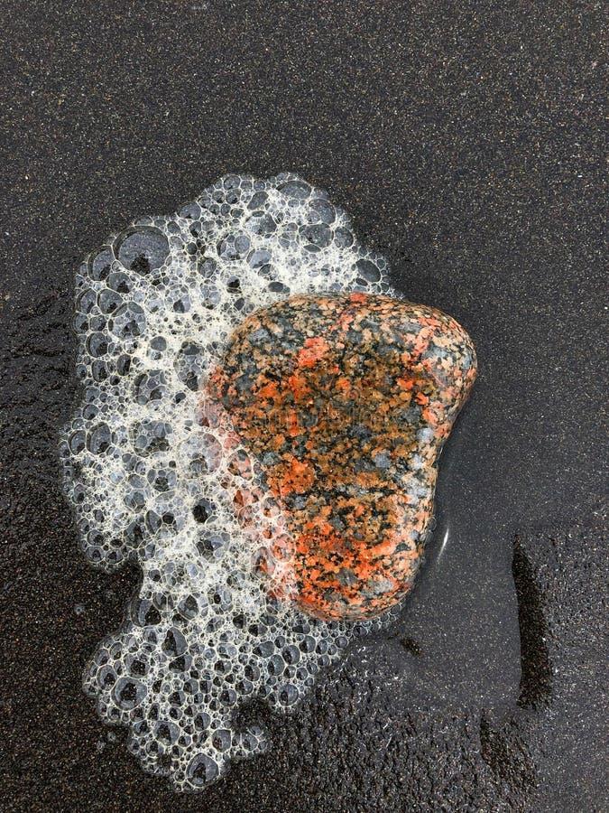 海滨和它的岩石特写镜头的细节 库存照片