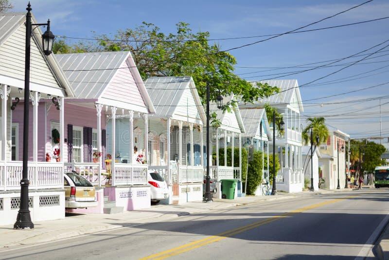 海滨城市基韦斯特岛佛罗里达 免版税图库摄影