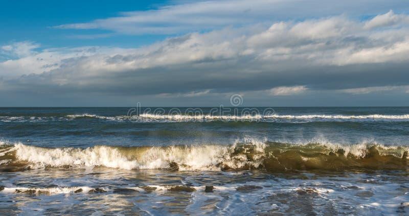 海滨,风雨如磐的海 图库摄影