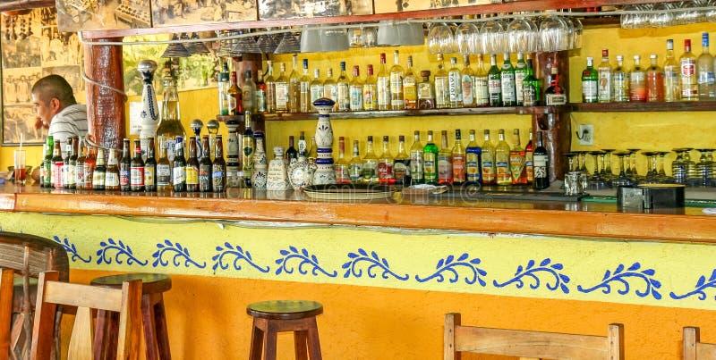 海滨del卡门酒吧选择 库存图片