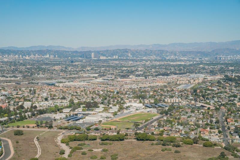 海滨del Rey地区鸟瞰图  库存照片