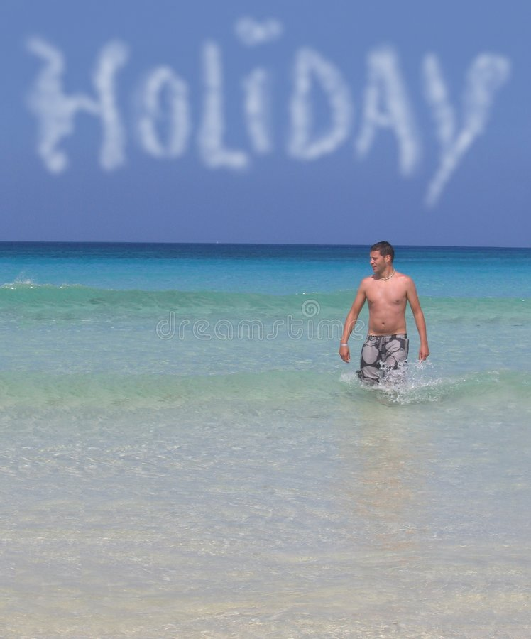 海滩人假期 免版税图库摄影