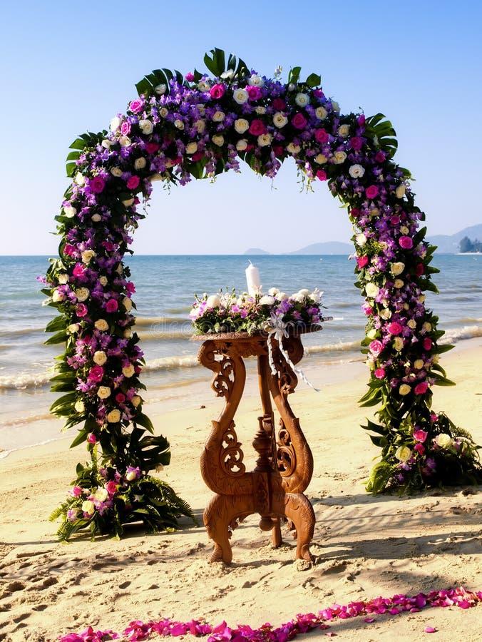 海滩仪式婚礼 库存照片