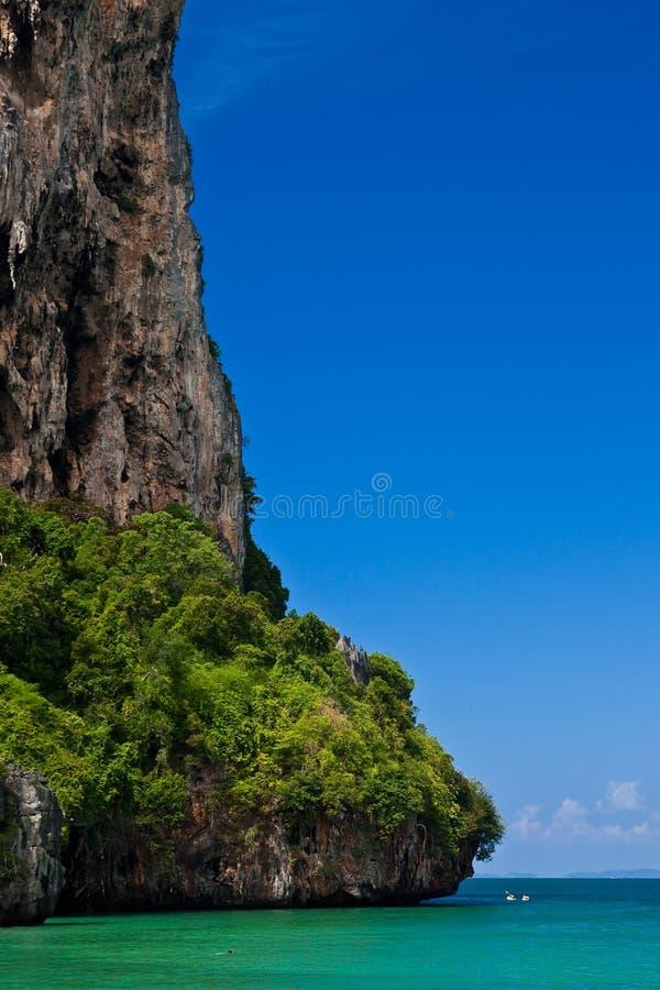 海滩位置rai南泰国 免版税库存照片