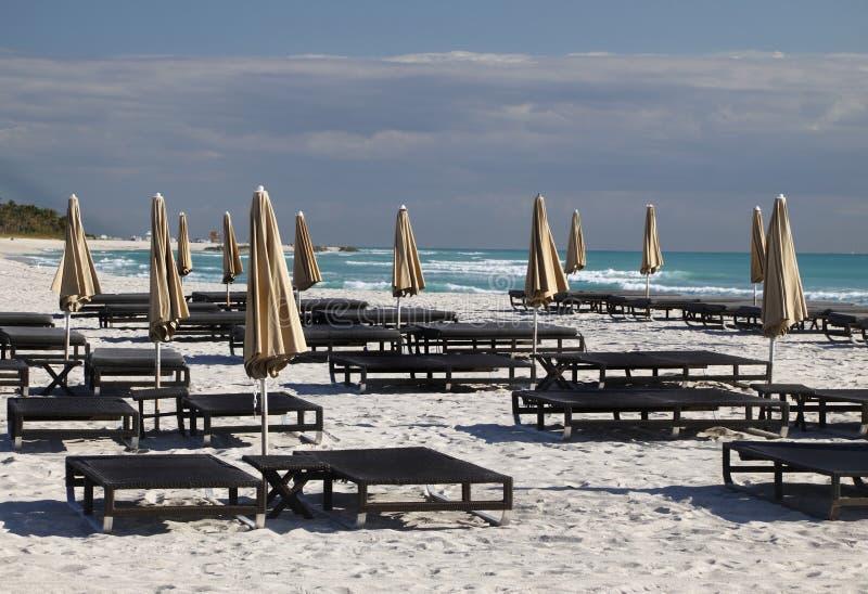 海滩佛罗里达南的迈阿密 免版税库存图片