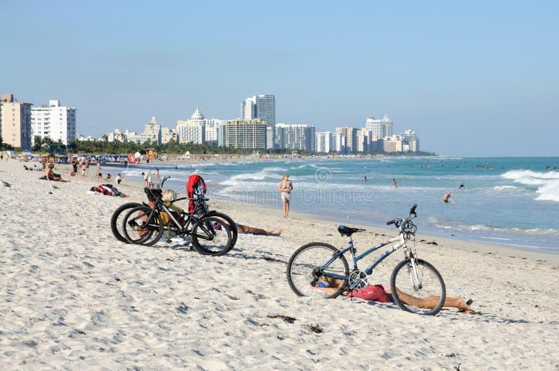海滩佛罗里达南的迈阿密 库存图片