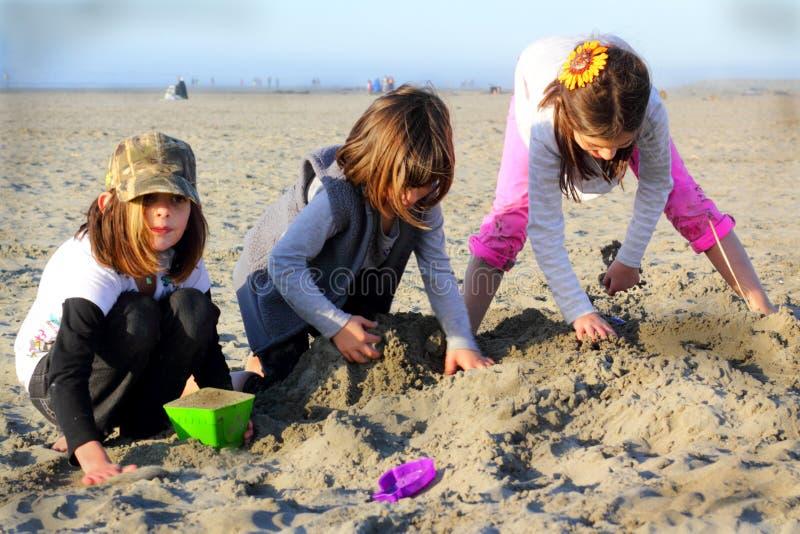 海滩作用 免版税库存照片