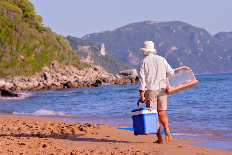 海滩供营商 免版税库存照片