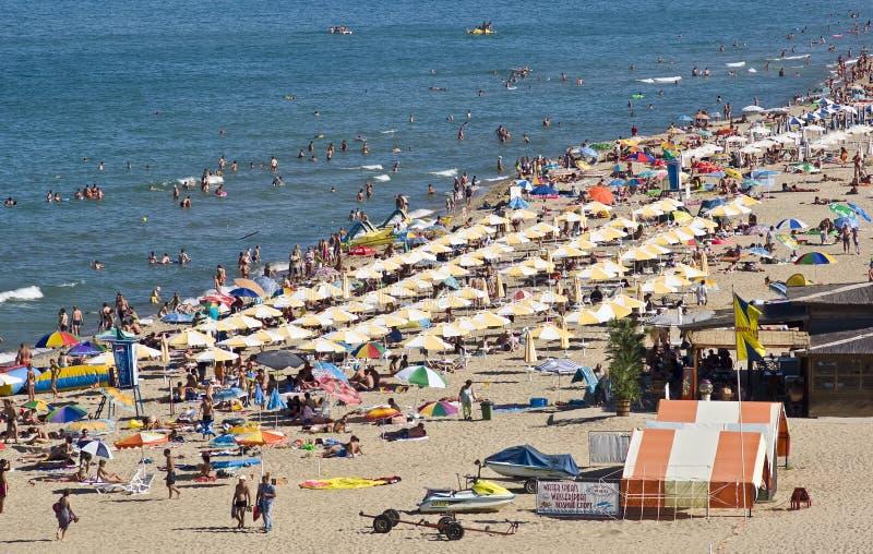 海滩保加利亚场面 免版税库存图片