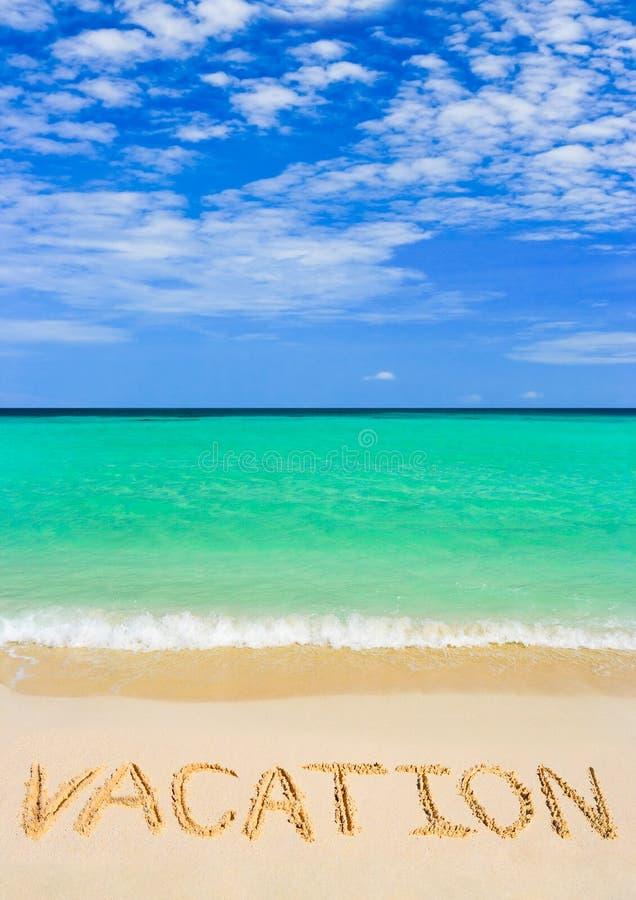 海滩假期字 库存照片