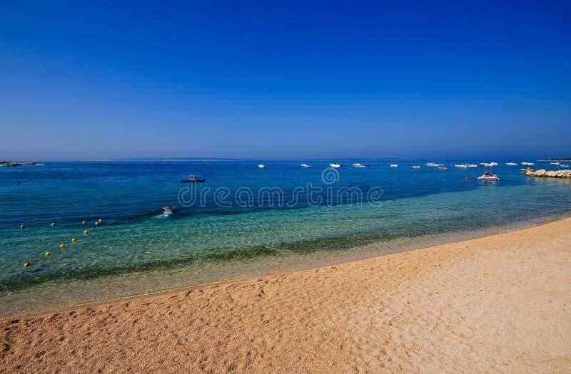 海滩克罗地亚simuni 库存图片