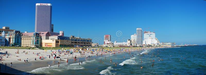 海滩全景 免版税库存图片