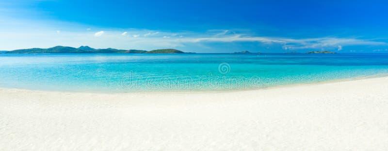 海滩全景 库存图片