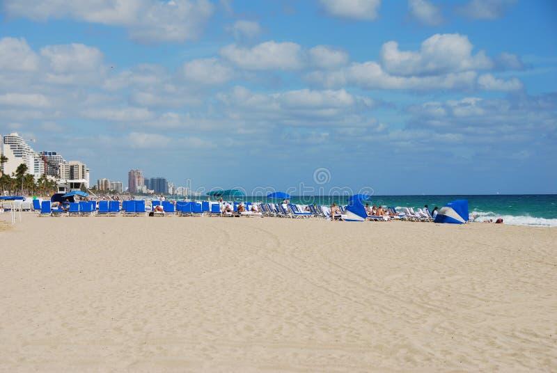 海滩全景 免版税图库摄影