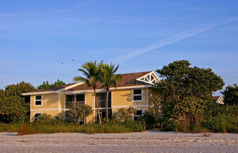 海滩公寓沿海地带 库存照片