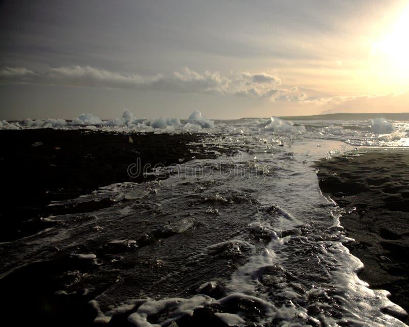 海滩冰 免版税图库摄影