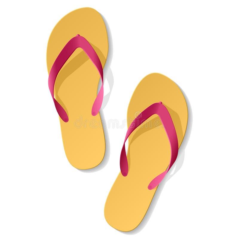 海滩凉鞋 库存例证