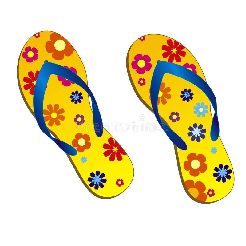 海滩凉鞋 皇族释放例证