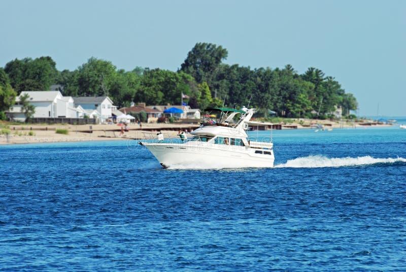 海滩划船 库存图片