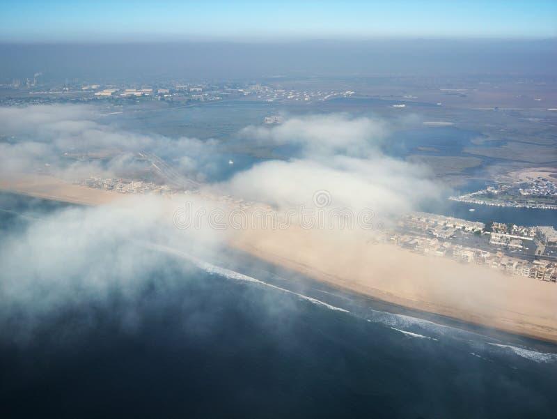 海滩前的加利福尼亚 免版税库存照片