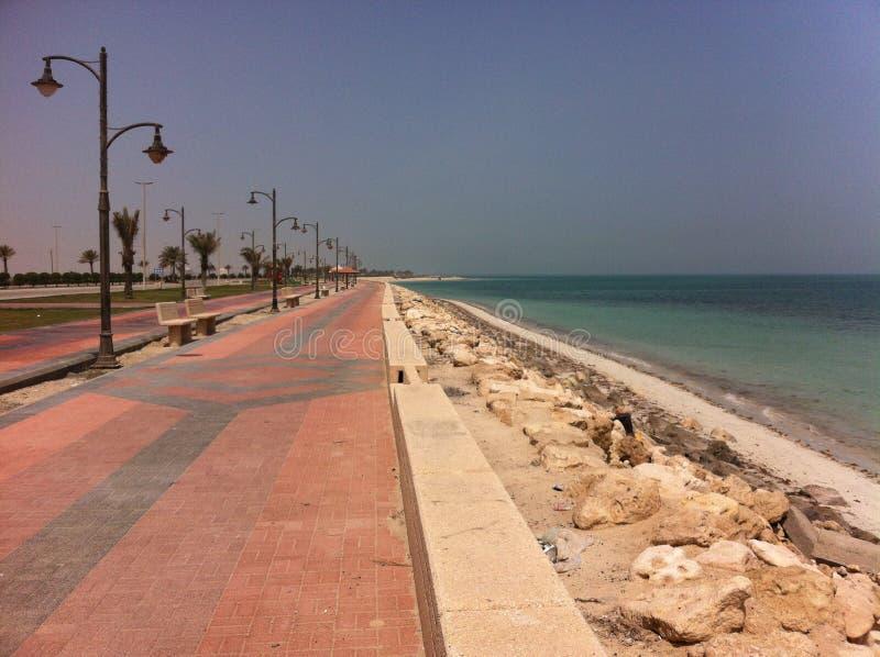 海滩前面的壮观的看法 图库摄影