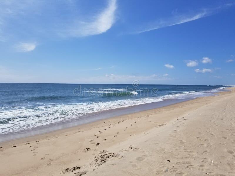 海滩前面 免版税库存照片