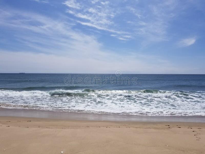 海滩前面 免版税库存图片