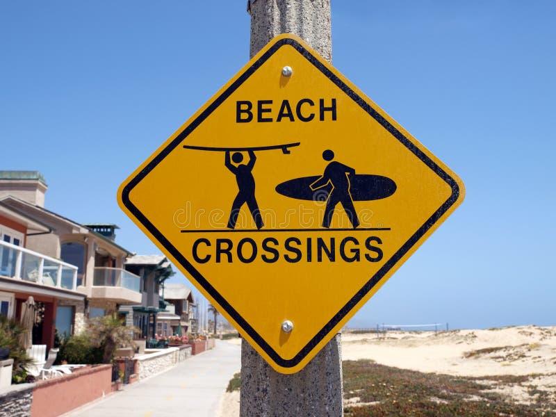 海滩加利福尼亚横穿 图库摄影