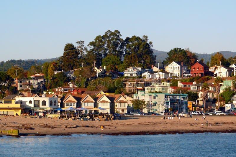 海滩加利福尼亚capitola 免版税库存图片