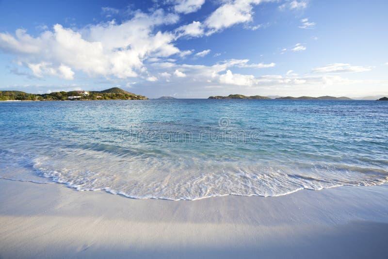 海滩加勒比早晨 免版税库存照片