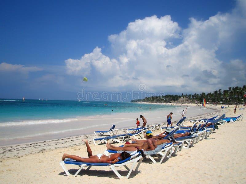 海滩加勒比热带 图库摄影