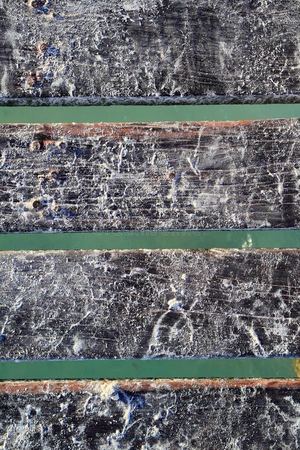 海滩加勒比码头沙子土壤白色木头 免版税图库摄影