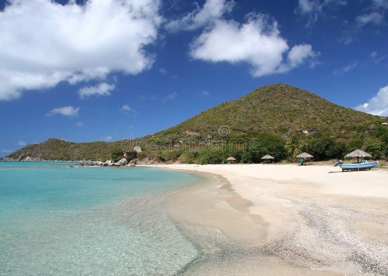 海滩加勒比 库存照片