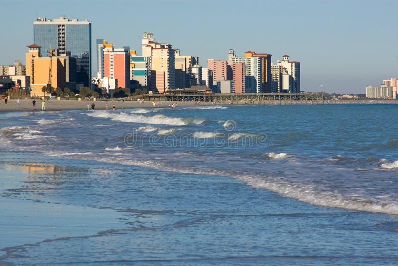 海滩加州桂sc视图 免版税库存图片