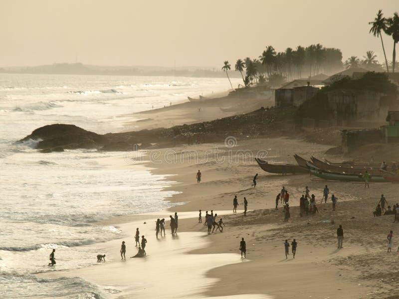 海滩加纳 免版税图库摄影