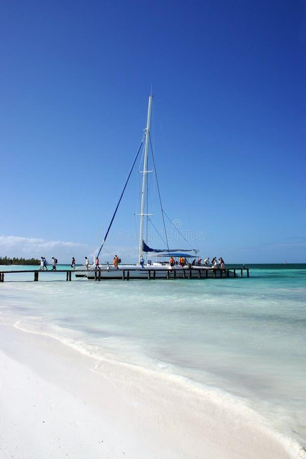 海滩古巴 图库摄影