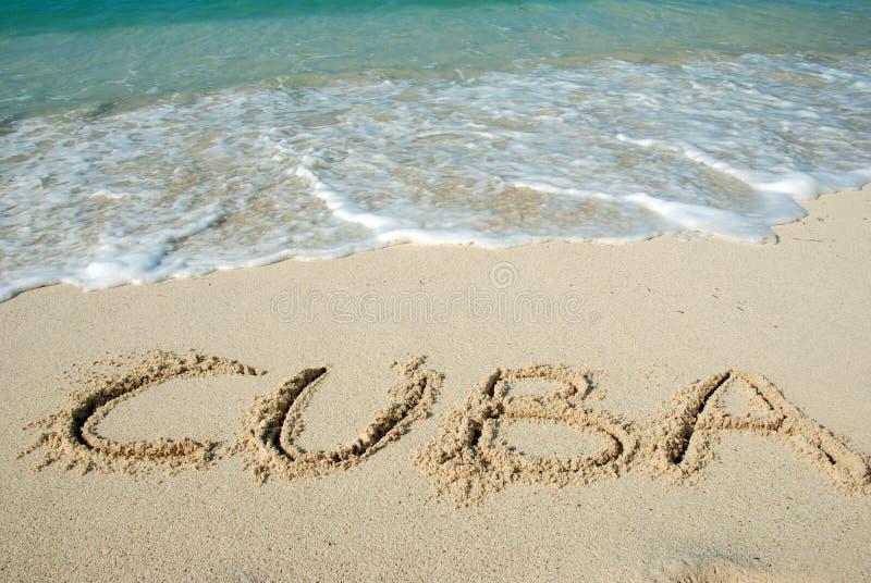 海滩古巴 免版税库存图片