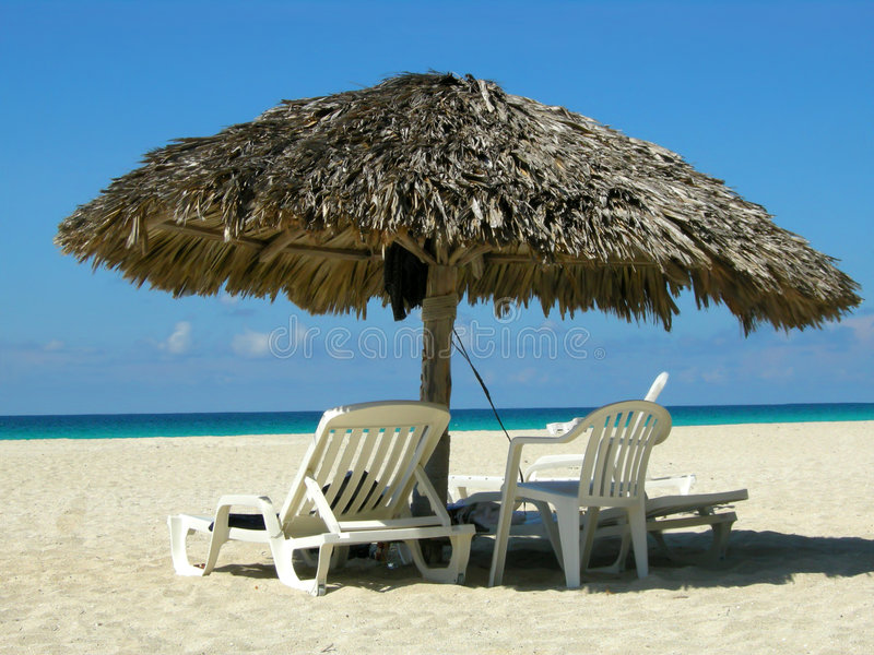 海滩古巴varadero 免版税库存照片