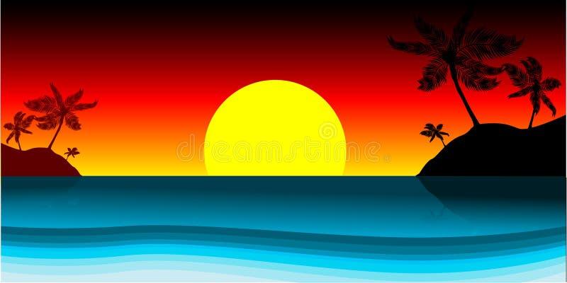 海滩向量 向量例证