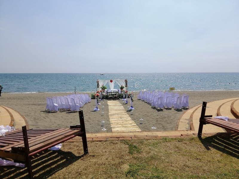 海滩和婚礼 图库摄影
