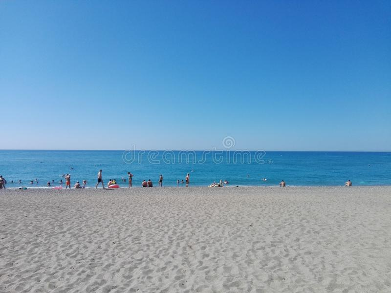 海滩和海运 库存图片