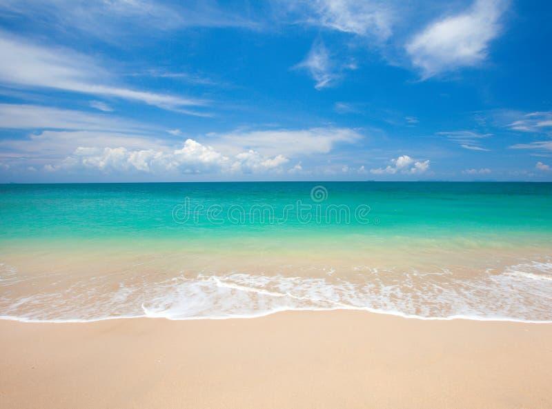 海滩和美丽的热带海 图库摄影