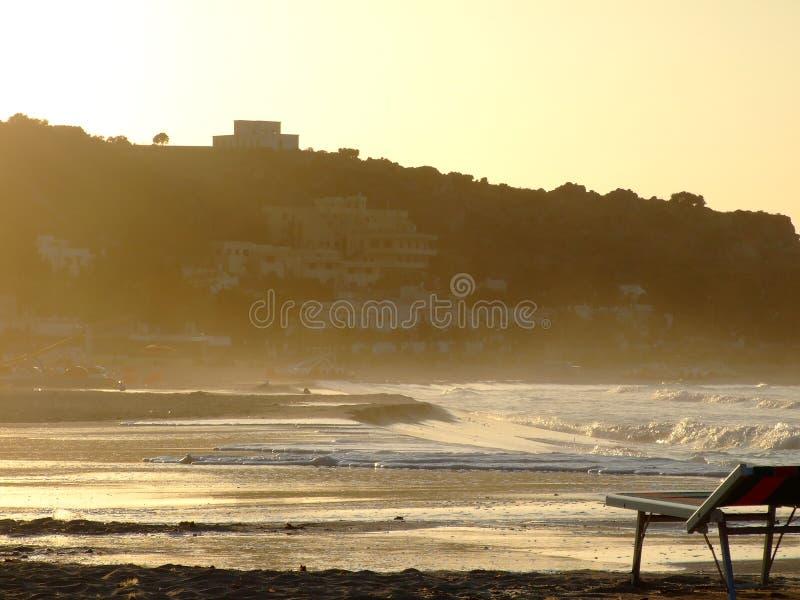 海滩品柱lo圣・维托 免版税库存照片