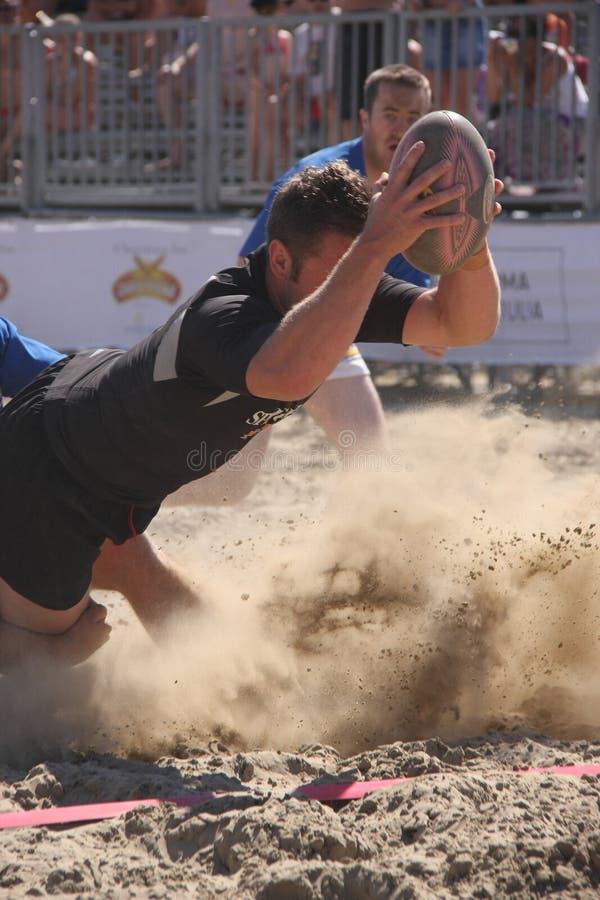 海滩国际新的橄榄球西兰 免版税库存图片